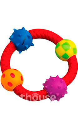 Petstages Multi texture chew ring - Канат-кольцо с мячиками, фото