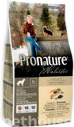 Pronature Holistic Dog Oceanic White Fish & Wild Rice, фото