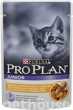 Purina Pro Plan Junior Chicken in jelly, фото