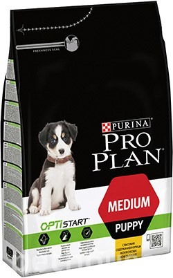 Purina Pro Plan Puppy Medium OptiStart, фото