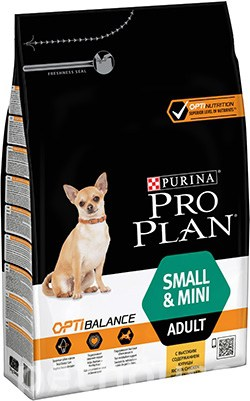 Purina Pro Plan Dog Adult Small and Mini OptiHealth, фото