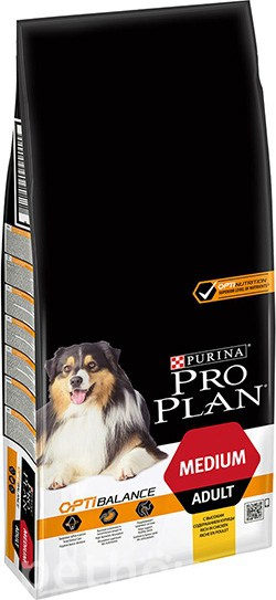 Purina Pro Plan Dog Adult Medium OptiHealth, фото