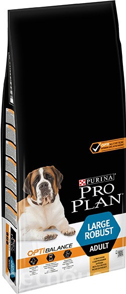 Purina Pro Plan Dog Adult Large Robust OptiHealth, фото