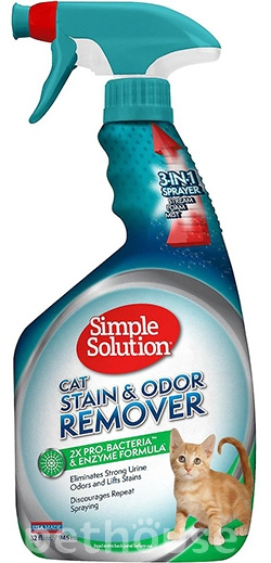 Simple Solution Stain and Odor Remover - нейтрализатор запаха и пятен для кошек, фото