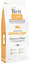 Brit Care Grain Free Senior and Light Salmon and Potato