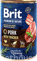 Brit Premium by Nature со свининой и трахеей для собак
