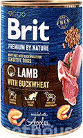 Brit Premium by Nature с ягненком и гречкой для собак