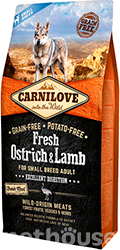 Carnilove Dog Fresh Adult Small Breed Ostrich & Lamb