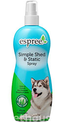 Espree Simple Shed & Static Spray - спрей-антистатик для собак і котів