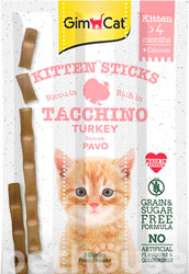 Gimpet Sticks Kitten - лакомства для котят, с индейкой и кальцием