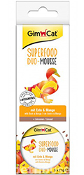 GimCat Superfood Duo-Mousse с уткой и манго для кошек