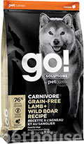 GO! Solutions Carnivore Grain-Free Lamb & Wild Boar Dog Recipe