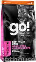 GO! Solutions Skin+Coat Care Grain-Free Chicken Dog Recipe
