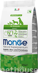Monge Speciality Line Dog Adult All Breeds Rabbit, Rice & Potatoes
