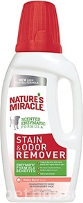 Nature's Miracle Dog Stain & Odor Remover, раствор с ароматом дыни