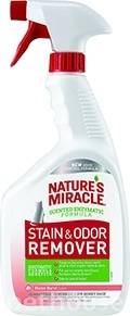 Nature's Miracle Cat Stain & Odor Remover, спрей с ароматом дыни