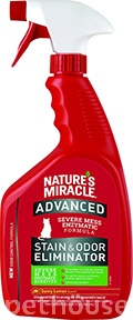 Nature's Miracle Advanced Cat Stain & Odor Eliminator, спрей с ароматом лимона
