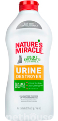 Nature's Miracle Urine Destroyer Cat Stain & Odor Remover, раствор
