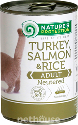 Nature's Protection Cat Neutered Turkey, Salmon & Rice