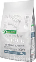 Nature's Protection Superior Care White Dogs Grain Free Adult Small and Mini Breeds White Fish