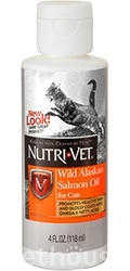 Nutri-Vet Wild Alaskan salmon oil for cats
