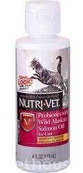 Nutri-Vet Probiotics Salmon Oil for cats