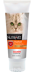 Nutri-Vet Hairball Paw-Gel for cats, с лососем